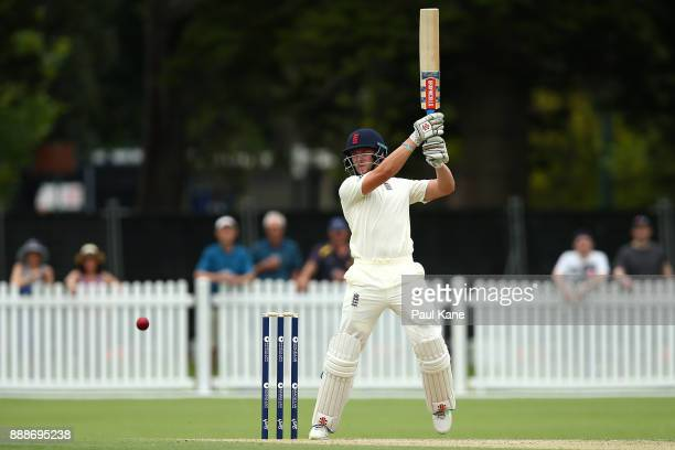Joe Clarke of England bats during the Two Day tour match between the Cricket Australia CA XI and England at Richardson Park on December 9 2017 in...