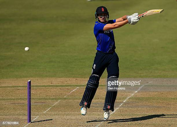 Joe Clarke of England in action during the Triangular Series match between England Lions and Pakistan A on July 19 2016 in Cheltenham England