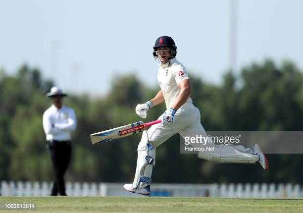 Joe Clarke of England Lions bats during the third day of tour the tour match between England Lions and Pakistan A at Sheikh Zayed Stadium Nursery 1...