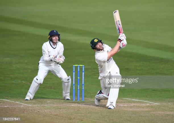 Joe Clarke of Nottinghamshire bats during the LV= Insurance County Championship match between Nottinghamshire and Yorkshire at Trent Bridge on...