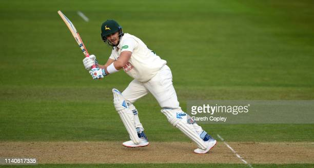 Joe Clarke of Nottinghamshire bats during the Specsavers County Championship Division One match between Nottinghamshire and Yorkshire at Trent Bridge...