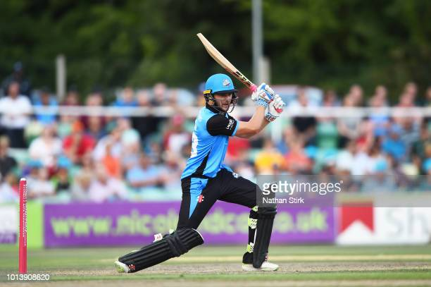 Joe Clarke of Warwickshire batting during the Vitality Blast match between Worcestershire Rapids and Derbyshire Falcons at New Road on August 9 2018...