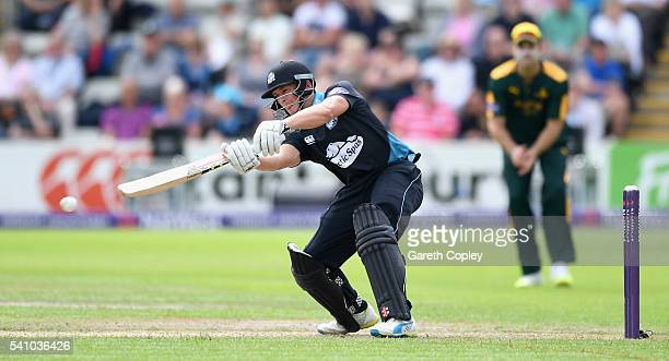 Joe Clarke of Worcestershire bats during the NatWest T20 Blast match between Worcestershire and Nottinghamshire at New Road on June 18 2016 in...
