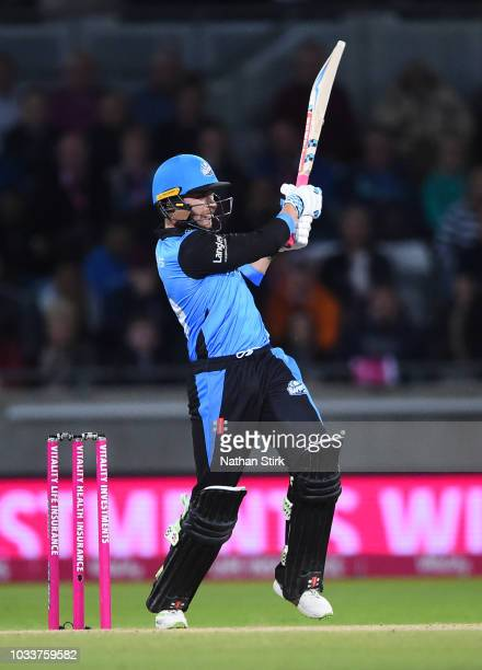 Joe Clarke of Worcestershire batting during the Vitality Blast Final match between Worcestershire Rapids and Sussex Sharks at Edgbaston on September...