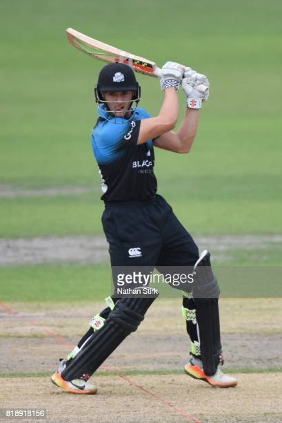 Joe Clarke of Worcestershire Rapids batting during the NatWest T20 Blast match between Worcestershire Rapids and Derbyshire Falcons at New Road on...