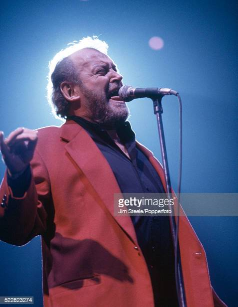 Joe Cocker performing on stage at the Wembley Arena in London on the 4th December 1994