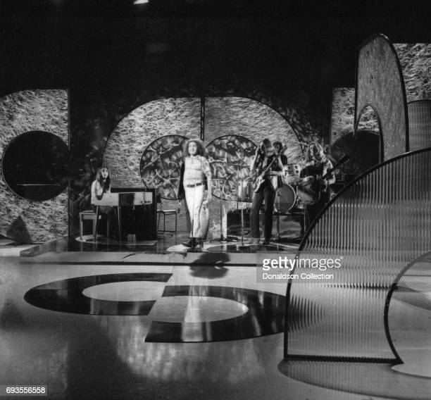Joe Cocker performs as a part of Ace Trucking Company on This Is Tom Jones TV show in circa 1970 in Los Angeles California