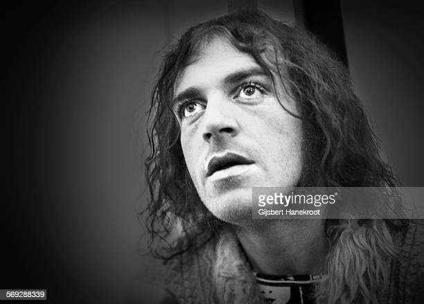 Joe Cocker pictured backstage at Crystal Palace Bowl in London on 3rd June 1972