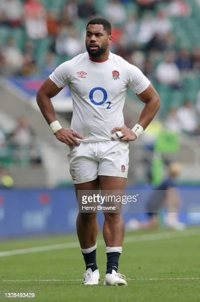 Joe Cokanasiga of England during the Summer International match between England and Canada at Twickenham Stadium on July 10, 2021 in London, England.