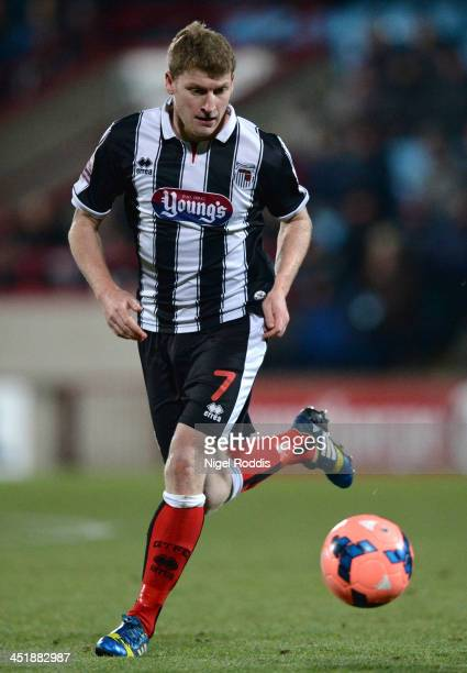 Joe Colbeck of Grimsby Town during their FA Cup First Round Replay against Scunthorpe United at Glanford Park on November 19 2013 in Scunthorpe...