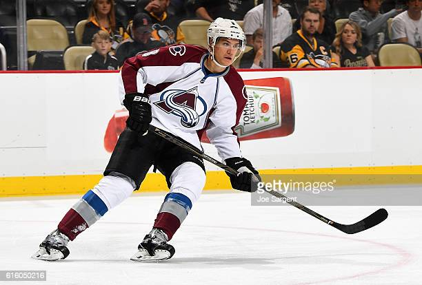 Joe Colborne of the Colorado Avalanche skates against the Pittsburgh Penguins at PPG Paints Arena on October 17 2016 in Pittsburgh Pennsylvania