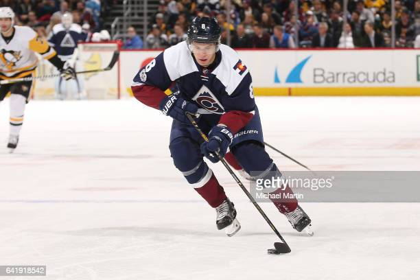Joe Colborne of the Colorado Avalanche skates against the Pittsburgh Penguins at the Pepsi Center on February 9 2017 in Denver Colorado