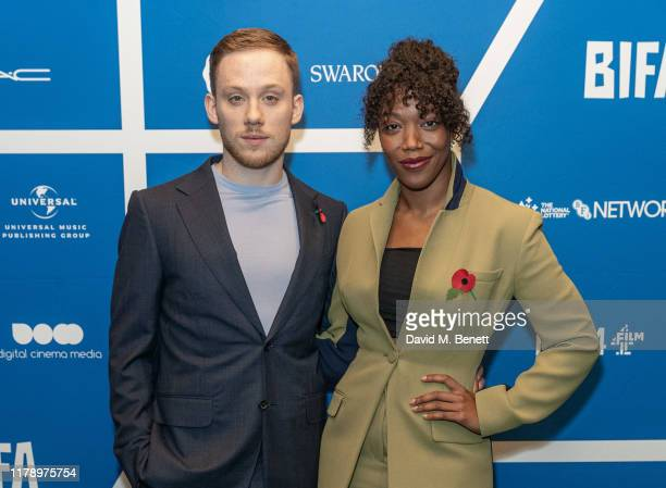 Joe Cole and Naomi Ackie attend the BIFA nominations announcement at Regent Street Cinema on October 30 2019 in London England
