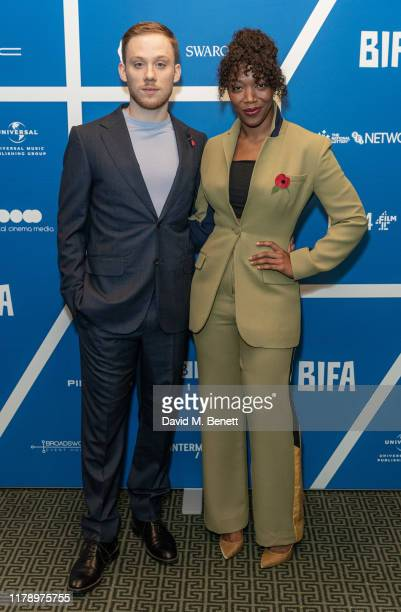 Joe Cole and Naomi Ackie attend the BIFA nominations announcement at Regent Street Cinema on October 30, 2019 in London, England.