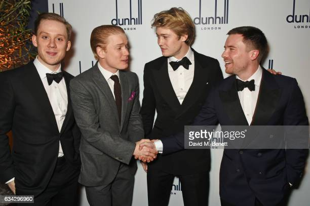 Joe Cole Freddie Fox Joe Alwyn and Joe Dempsie attend the dunhill and Dylan Jones preBAFTA dinner and cocktail reception celebrating Gentlemen in...