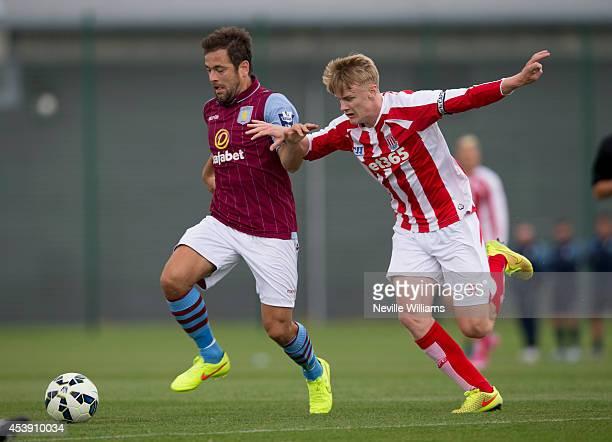 Joe Cole of Aston Villa during the Barclays U21 Premier league match between Aston Villa and Stoke City at Aston Villa's training ground in Bodymoor...