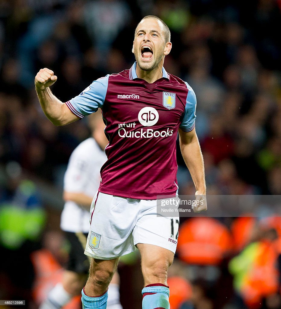 Joe Cole of Aston Villa during the Capital One Cup Second Round match between Aston Villa and Notts County at Villa Park on August 25, 2015 in Birmingham, England.