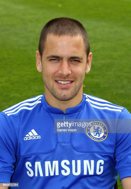 Joe Cole of Chelsea during the photo shoot at Cobham training ground on August 20 2009 in Cobham Surrey