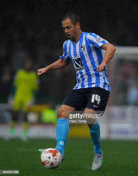 Joe Cole of Coventry City during the Sky Bet League One match between Swindon Town and Coventry City at The County Ground on October 24 2015 in...