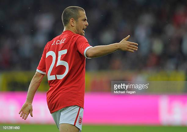 Joe Cole of England reacts after the first goal for England makes it 11 during the International Friendly match between Japan and England at the...