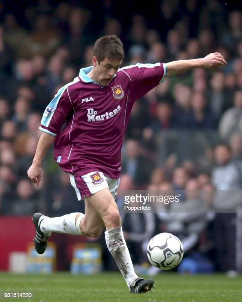 Joe Cole of West Ham United in action during the FA Carling Premiership match between West Ham United and Derby County at Upton Park in London on...