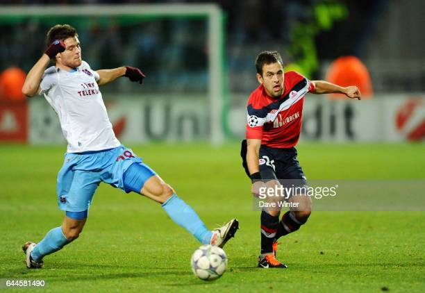 Joe COLE / Ondrej CELUSTKA Lille / Trabzonspor Champions League 2011/2012 Photo Dave Winter / Icon Sport