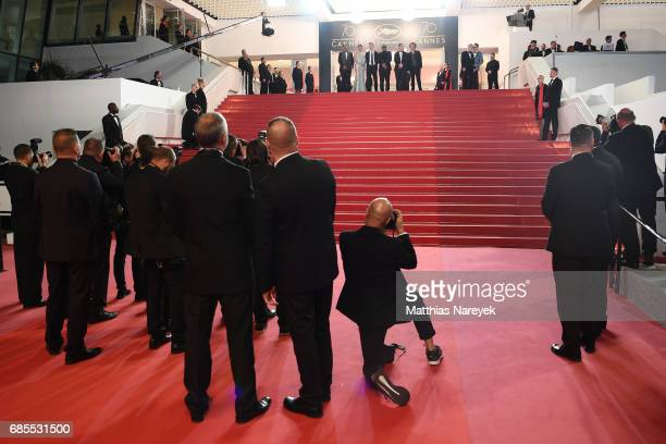 Joe Cole Vithaya Pansringarm Billy MoorePornchanok Mabklang and Panya Yimumphai and director JeanStéphane Sauvaire attend the A Prayer Before Dawn...
