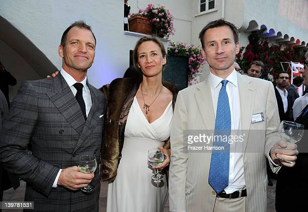 Joe Coleman actress Janet McTeer and Rt Hon Secretary of State for Culture Olympics Media and Sport Jeremy Hunt attend the GREAT British Film...