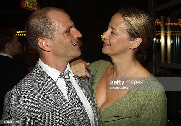 Joe Coleman and girlfriend Janet McTeer attend The Pitman Painters opening night at the Samuel J Friedman Theatre on September 30 2010 in New York...
