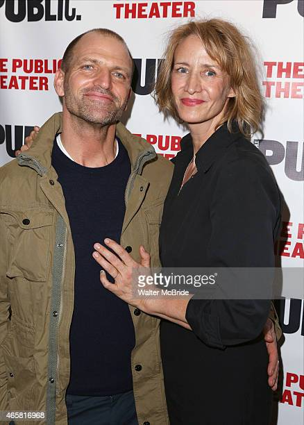 Joe Coleman and Janet McTeer attend the Opening Night Performance of 'Josephine and I' at the Public Theatre on March 10 2015 in New York City