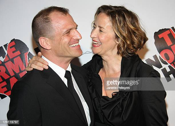 Joe Coleman and Janet McTeer attends the Broadway opening night of The Normal Heart at The Golden Theatre on April 27 2011 in New York City