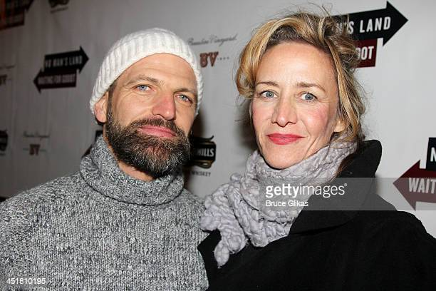Joe Coleman and wife Janet McTeer attend the opening night of Waiting For Godot at the Cort Theatre on November 24 2013 in New York City