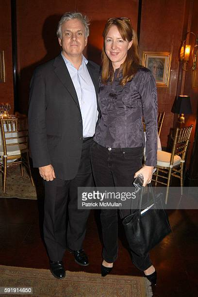 Joe Conason and Elizabeth Wagley attend Good Night and Good Luck Screening at MGM Screening Room on October 6 2005 in New York City