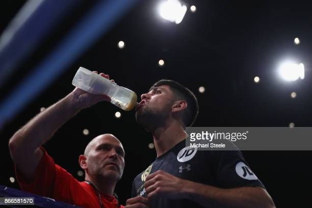 Joe Cordina during a public work out at St David's Hall on October 25 2017 in Cardiff Wales