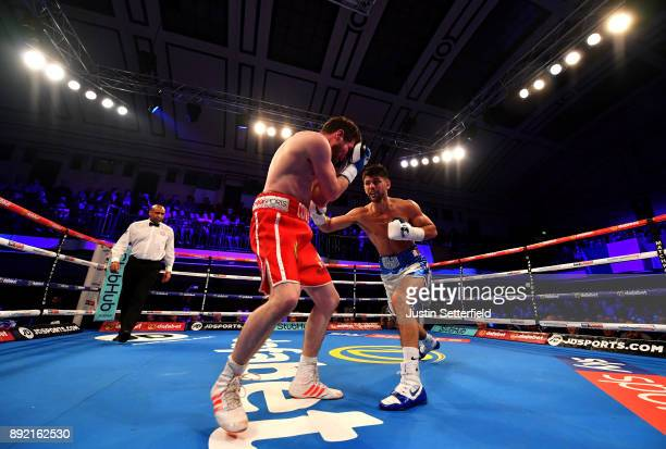 Joe Cordina in action against Lee Connelly in there Lightweight Contest at York Hall on December 13 2017 in London England