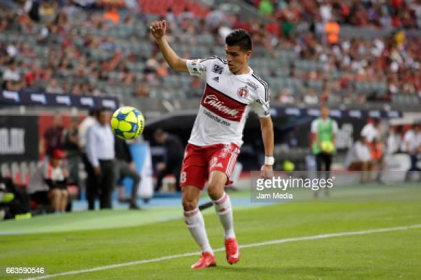 Joe Corona of Tijuana controls the ball during the 12th round match between Atlas and Tijuana as part of the Torneo Clausura 2017 Liga MX at Jalisco...