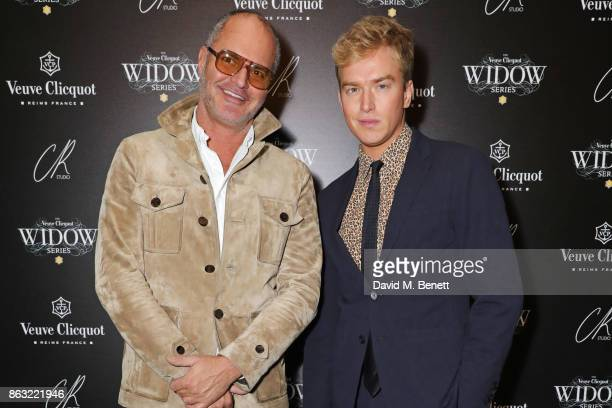 Joe Corre and Fletcher Cowan attend The Veuve Clicquot Widow Series By Carine Roitfeld And CR Studio on October 19 2017 in London England