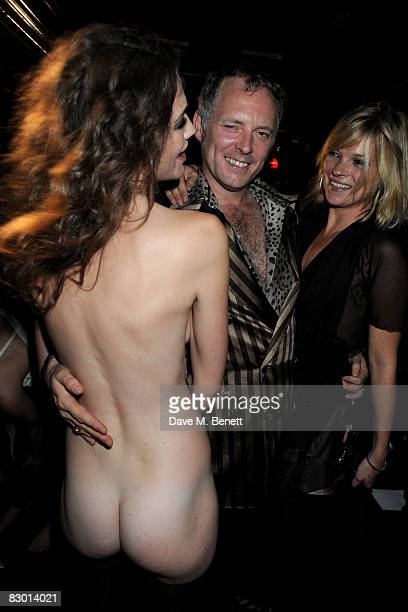 Joe Corre and Kate Moss attend the Agent Provocateur fragrance launch party at the Dolce Club on September 25 2008 in London England