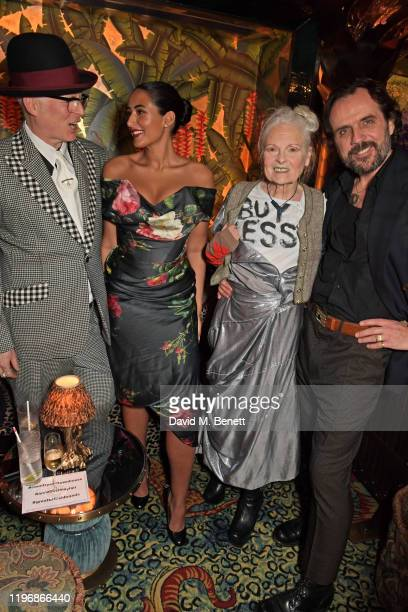 Joe Corre Cora Corre Dame Vivienne Westwood and Andreas Kronthaler attend the 'Country Town House Great British Brands' party at Annabel's on January...