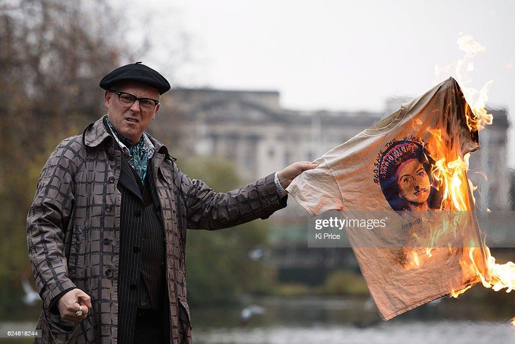 Joe Corre Burns A God Save The Queen T-Shirt : News Photo
