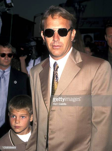 Joe Costner and Kevin Costner during Tin Cup Los Angeles Premiere at Mann Village Theatre in Westwood California United States