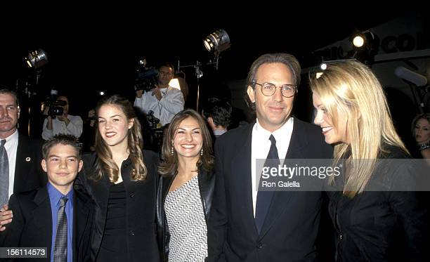 Joe Costner Lily Costner Annie Costner Kevin Costner and Christine Baumgartner