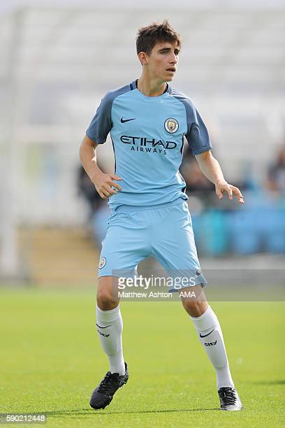 Joe Coveney of Manchester City U18 during the U18 Premier League match between Manchester City and West Bromwich Albion at Etihad Campus on August 13...