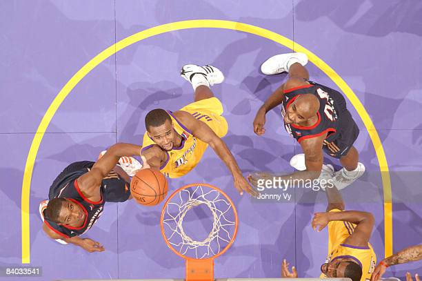 Joe Crawford of the Los Angeles DFenders puts up a shot against the Bakersfield Jam at Staples Center on December 14 2008 in Los Angeles California...