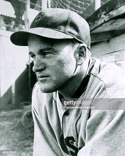 Joe Cronin, shortstop and manager for the Boston Red Sox is captured on camera during a game in 1940 in Fenway Park in Boston, Massacusetts.