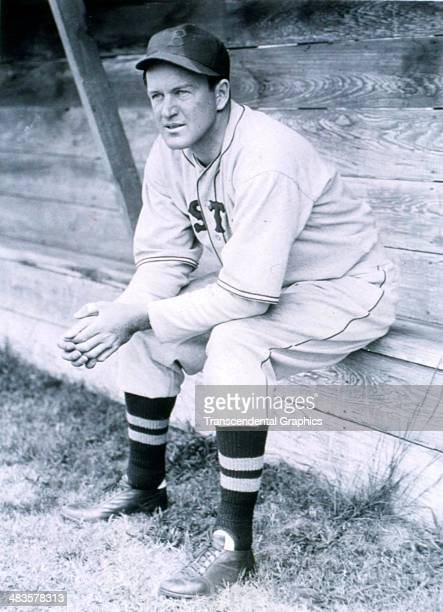 Joe Cronin, shortstop and manager for the Boston Red Sox takes a breakt at spring training in March of 1941 in Sarasota, Florida.