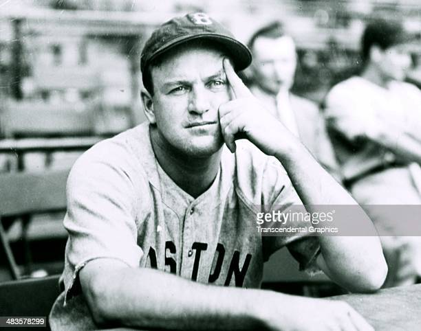 Joe Cronin, shortstop for the Boston Red Sox thinks about the upcoming season before a spring training game in March of 1939 in Shibe Park in...
