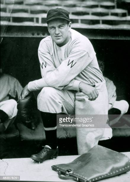 Joe Cronin, shortstop for the Washington Senators poses before a game in 1935 in League Park in Cleveland, Ohio.