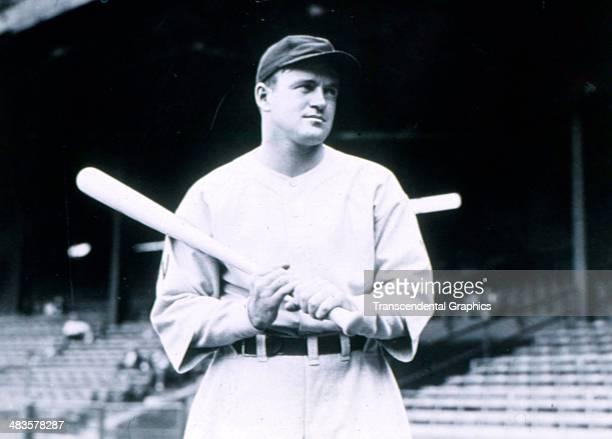 Joe Cronin, shortstop for the Washington Senators poses before a game in 1932 in Griffith Stadium in Washington, DC.