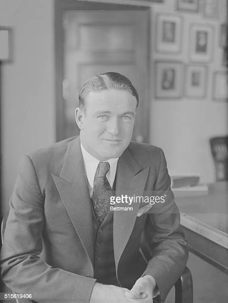 Joe Cronin, Washington shortstop named to succeed the veteran Walter Johnson as Manager of the Nationals. Photo shows Joe with a great bit smile just...